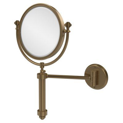 Allied Brass South Beach Wall Mounted Makeup Mirror with 4X Magnification - SB-4/4X-BBR