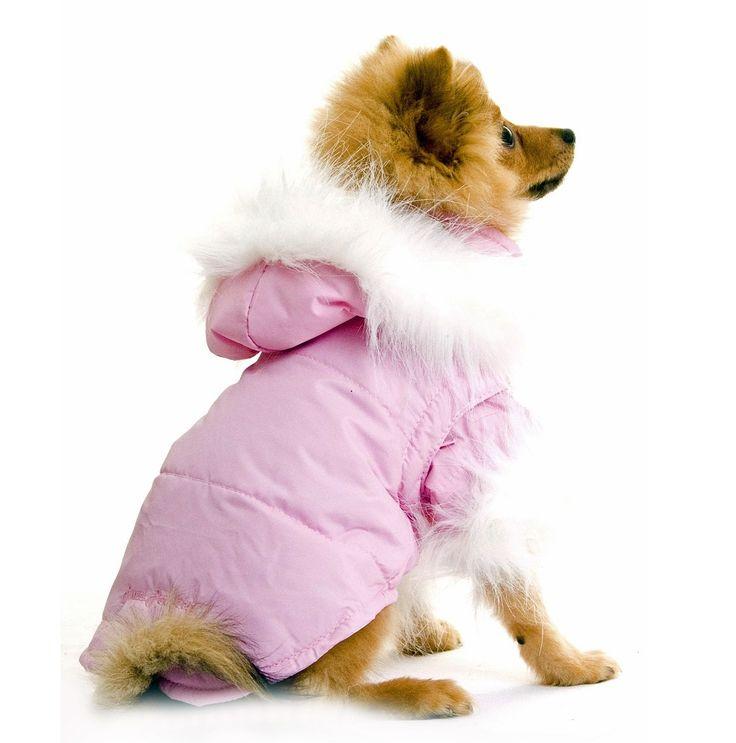 Nosy Dog Parka in Pink £34.99 #dograincoat #dogcoat #dogclothing