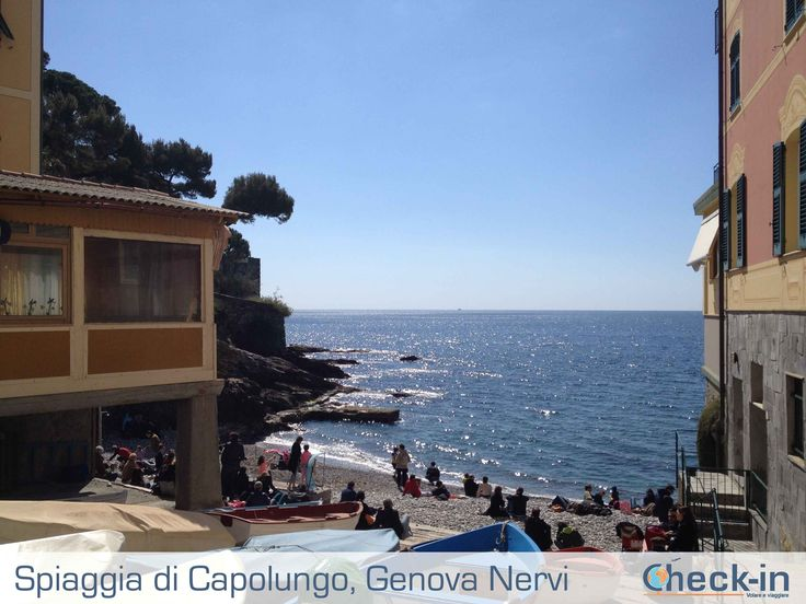 Spiaggia Capolungo a Genova Nervi, Liguria http://bit.ly/1I4IdQ4
