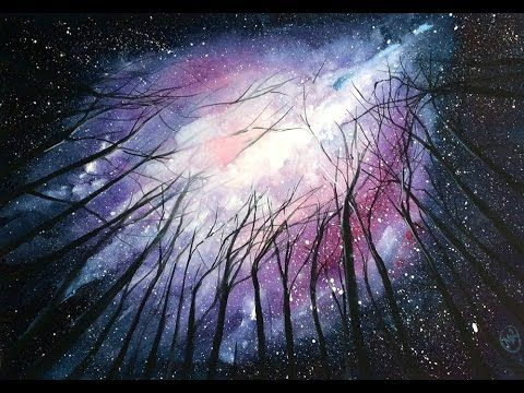"""How to Paint a Watercolor """"Galaxy"""" - Tutorial by Giovana Forrest - YouTube"""