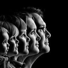 Endlich mal ein etwas anderes Familienfoto! :) Toller Einsatz von Licht und Schatten.