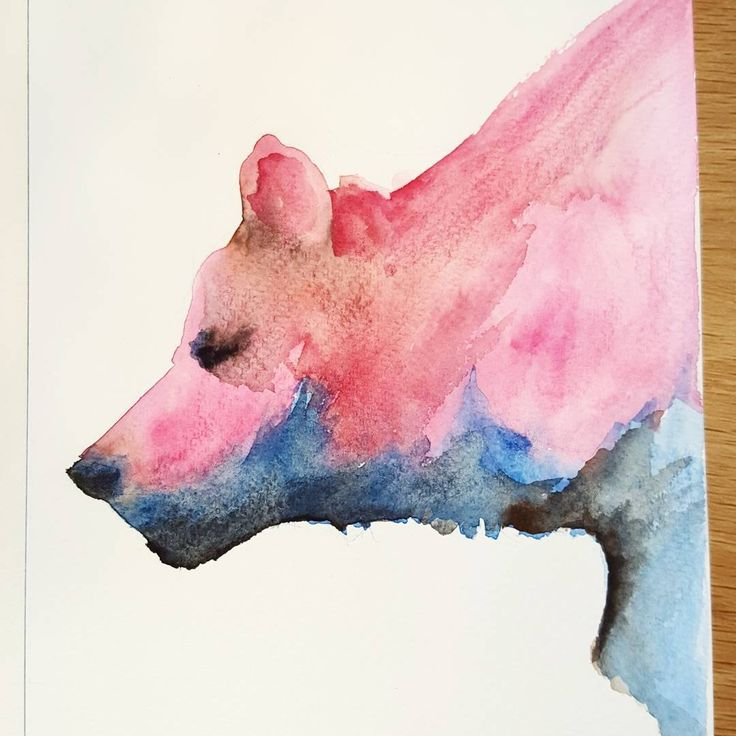 And a little watercolour from the weekly art #meetup...