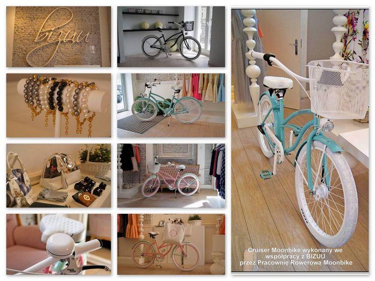 Moonbikes & Bizuu #bikes #moonbikes #bike #cute #bizuu #fashion #pink #blue #bracelet #white #black