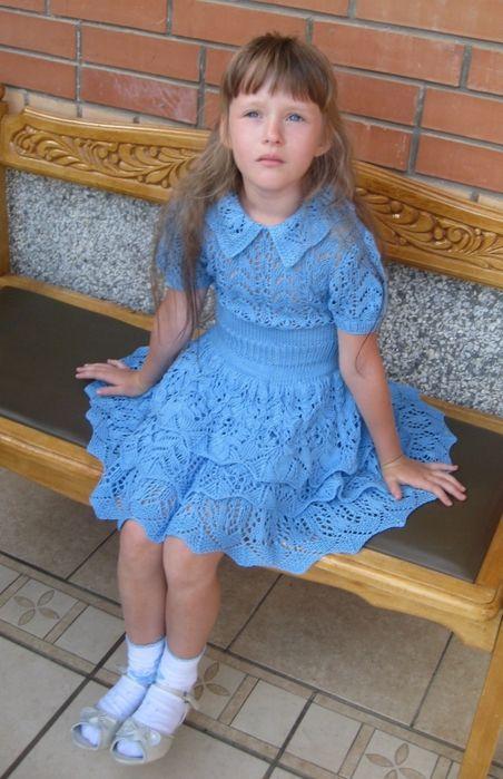 Великолепное летнее платье с ажурными оборками. Платье с ажурными оборками для девочки