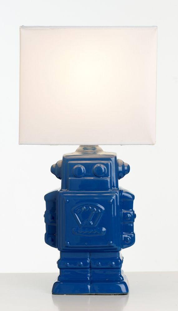 Robot Kids Bedroom Lamp -  Blue from Harvey Norman NewZealand
