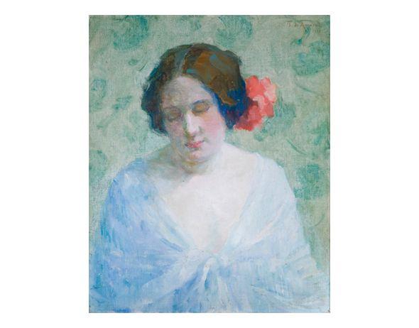 """Figura conhecida como """"O Passaporte"""", nome dado por ela conseguir ser admitida no salão da Sociedade dos Artistas Franceses com ele. (1922) -  Tarsila do Amaral"""