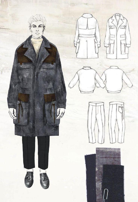 Fashion Sketchbook - fashion illustration, fabric & flats; fashion portfolio // Robyn Priestley