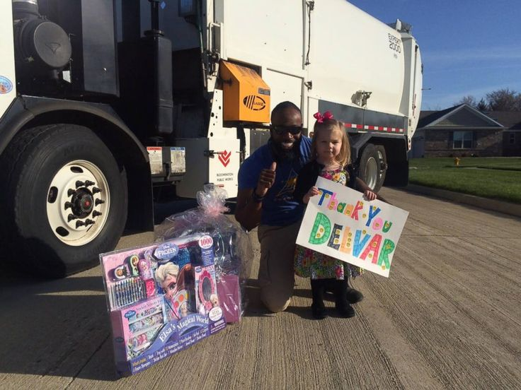 http://abcnews.go.com/Lifestyle/neighborhood-trash-collector-makes-girls-birthday/story?id=38572867 PHOTO: Unlikely BFFs: A little girl and the neighborhoods trash collector went from a wave to BFFs.
