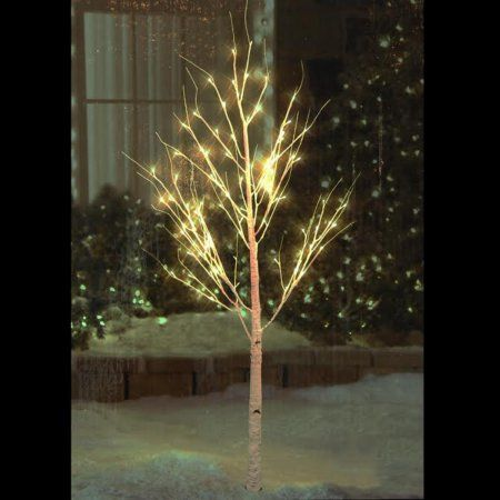 6' Pre-Lit White Christmas Twig Tree Outdoor Yard Art Decoration - Warm White LED Lights
