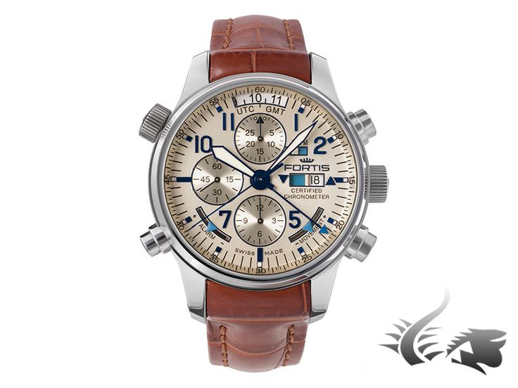 Fortis Daybreaker Recon Chronographs Automatic Watch, F-2012, Pearl, L | Iguana Sell