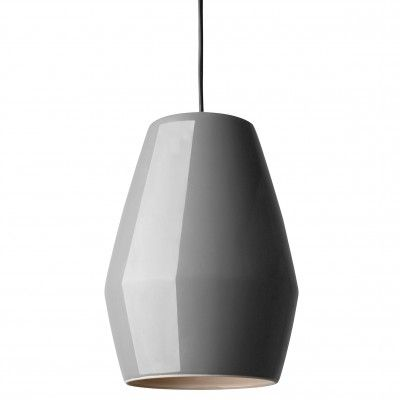 Lampe Suspension Bell Gris en Porcelaine - Lili's
