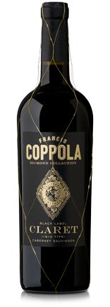 Diamond Collection Claret | Francis Ford Coppola Winery  Flavors of blackberry, cassis and roasted espresso.  Cabernet Sauvignon based blend with merlot, cabernet franc, petit verdot and malbec. Smooth tannins with notes of wild berries, plum and anise. Love the gold net.  Yummy!!