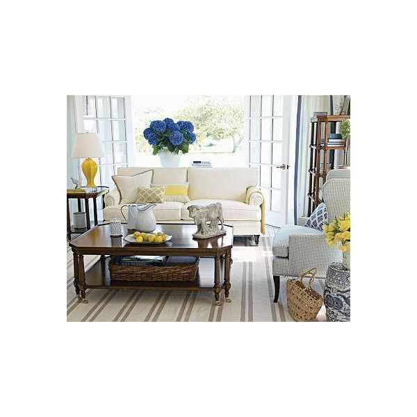 blue yellow bedroom living room design decor ideas » theLENNOXX found on Polyvore. I love the navy & yellow accents.