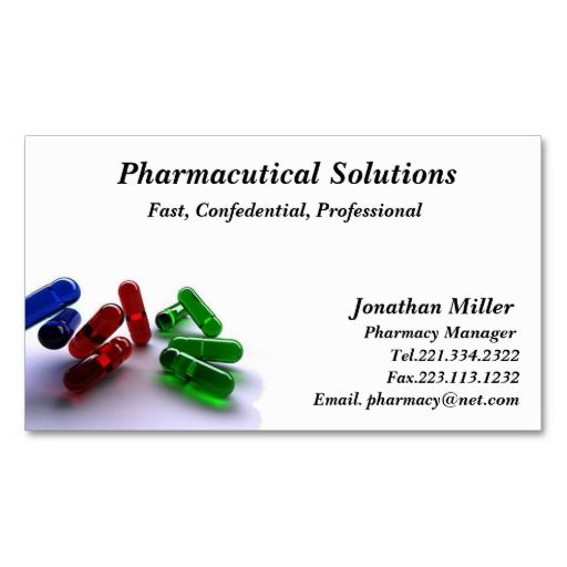 Pharmacy business cards selol ink pharmacy business cards reheart Choice Image