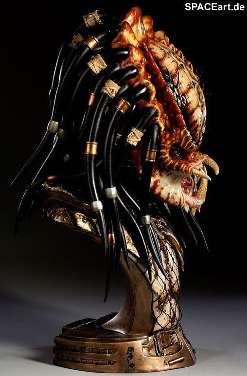 Predator 2: Legendary Scale Predator Büste, Fertig-Modell, http://spaceart.de/produkte/pr028.php