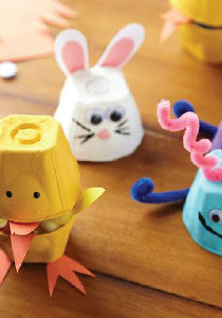 Celebrate springtime with these 3 adorable DIY egg carton crafts for kids.