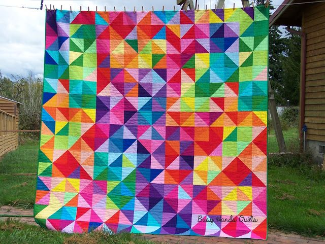 119 best Rainbow Quilts images on Pinterest | Quilting, Flower and ... : rainbow quilt pattern - Adamdwight.com