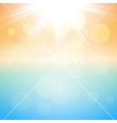 Sunny summer background vector by hamara on VectorStock®