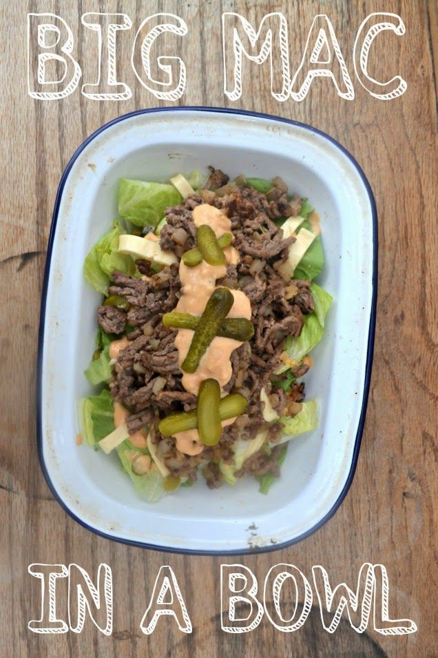 A low-carb alternative for #NationalBurgerDay. The Slimming World Big Mac in a Bowl.