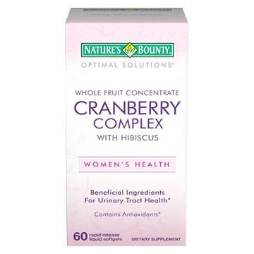 Nature's Bounty Optimal Solutions Cranberry Complex Women's Dietary Supplement Softgels - 60 Count