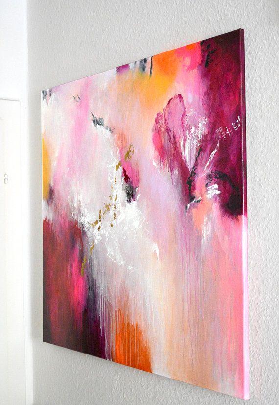 Original große XL abstrakte Malerei Werk der von ARTbyKirsten