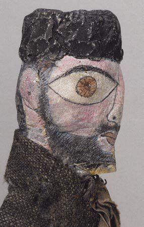 Пауль Клее изобразил себя в виде гротескной куклы-бедуина