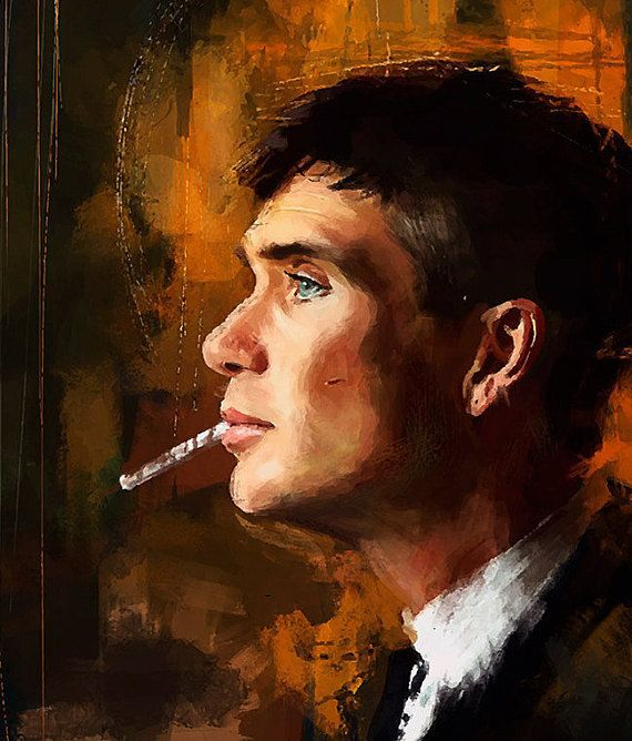 5bc2d059758f Tommy Shelby Painting, Peaky Blinders Poster, Peaky Blinders Art, Thomas  Shelby Wall Art Print, Cillian Murphy Character TV Show Artwork in 2019    paintings ...