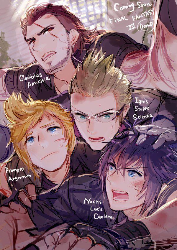 Noctis Prompto Gladiolus & Ignis - Final Fantasy XV #FFXV 15