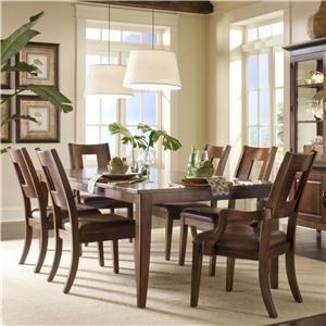 Klaussner Carturra Rectangular Dining Table with 2 SquareBack Arm