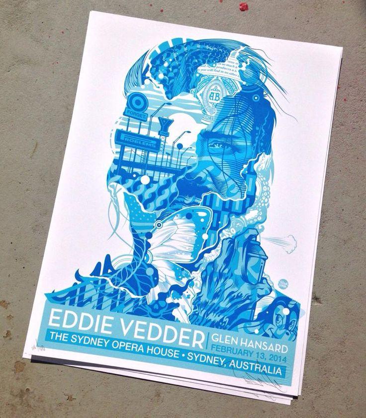 Eddie Vedder Poster by Tristan Eaton