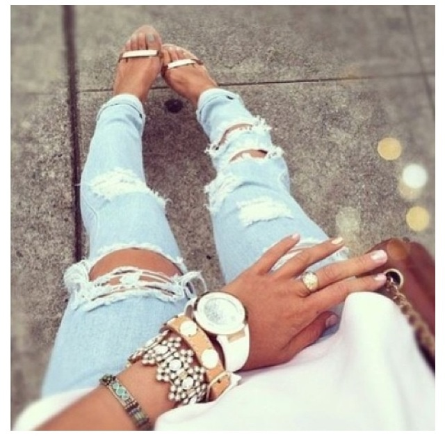 Ripped jeans...Tarry likes these but won't ever buy them...quote
