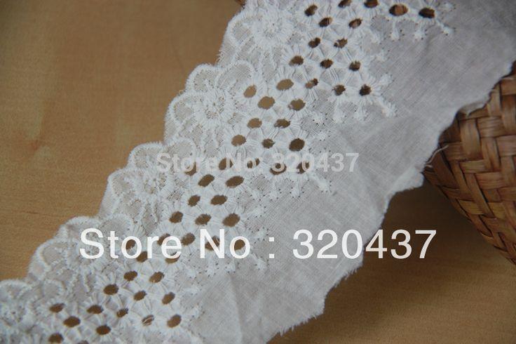 Хлопок ушко кружева хлопчатобумажной ткани белый хлопок вышивка laciness 6 см белый
