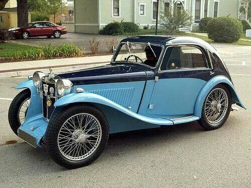 https://twitter.com/HWarlow 1936 MG Midget Airline Coupe