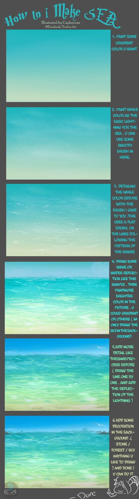 How to make Sea ^^ by Caphricorn on deviantART