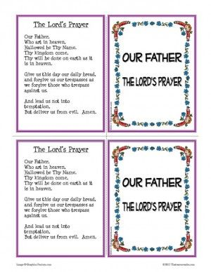 My Scrappy Life: An Interactive Lord's Prayer Lesson