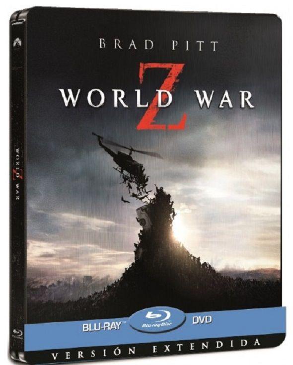 'Guerra Mundial Z' (World war Z) EDICIÓN LIMITADA EN CAJA METÁLICA. Incluye una versión extendida de la película y una larga lista de extras, con material sobre el rodaje, los zombis y la ciencia en Guerra Mundial Z' ¡todo lo que queríais saber sobre la película en una única edición limitada!.