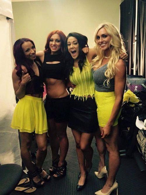 Sasha Banks, Becky Lynch, Bayley and Charlotte