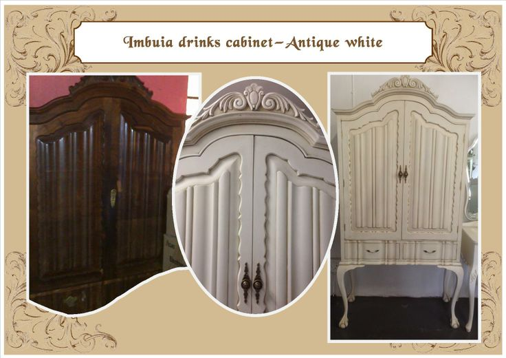 Antique white drinks cabinet