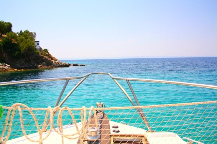 Boat ride in Sithonia