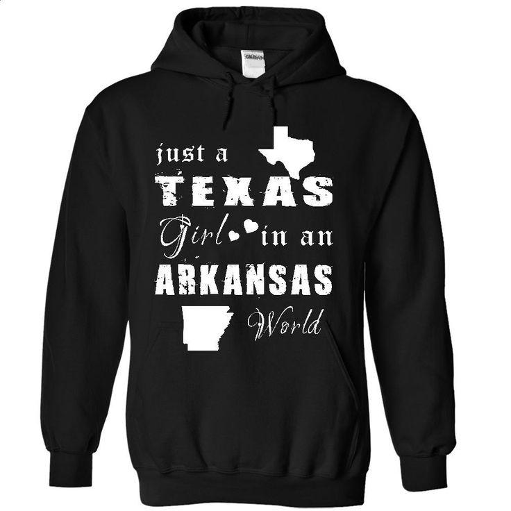 TEXAS GIRL IN ARKANSAS T Shirt, Hoodie, Sweatshirts - t shirts online #fashion #T-Shirts