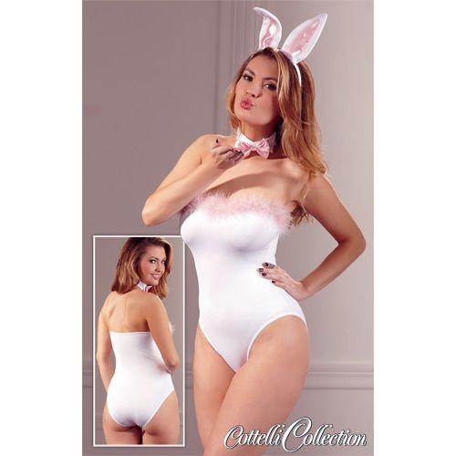 Bunny-Set Wit #lingerie #lingeriebestellen #kostuum #costume #bunny #sex #sexy #woman