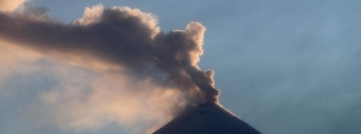 Moderately strong eruptions at Klyuchevskoy volcano, ash up to 6 km a.s.l.