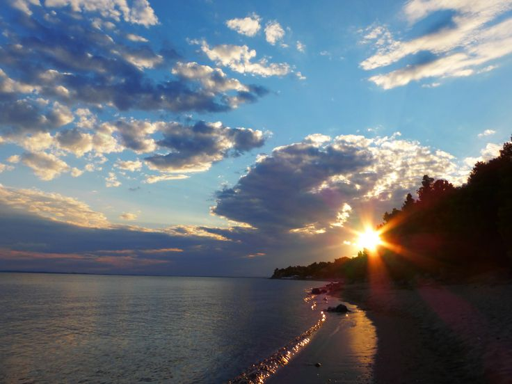 beautiful sunset, Psakoudia, Chalkidiki, Greece