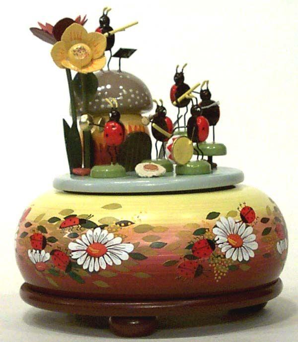 Ladybugs German music box