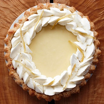 Lemon Velvet Cream Pie - this citrus custard pie from pastry chef Alan Carter is a fresh and fluffy addition to any desserts table.