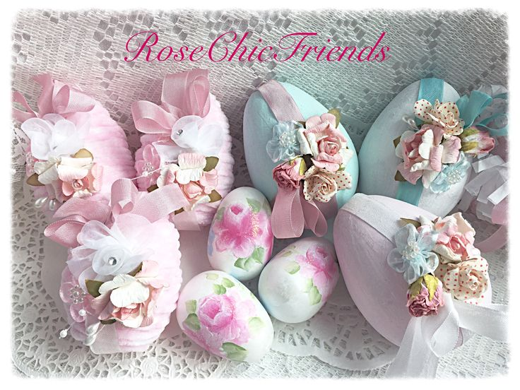 Shabby chic eggs I have created for Easter