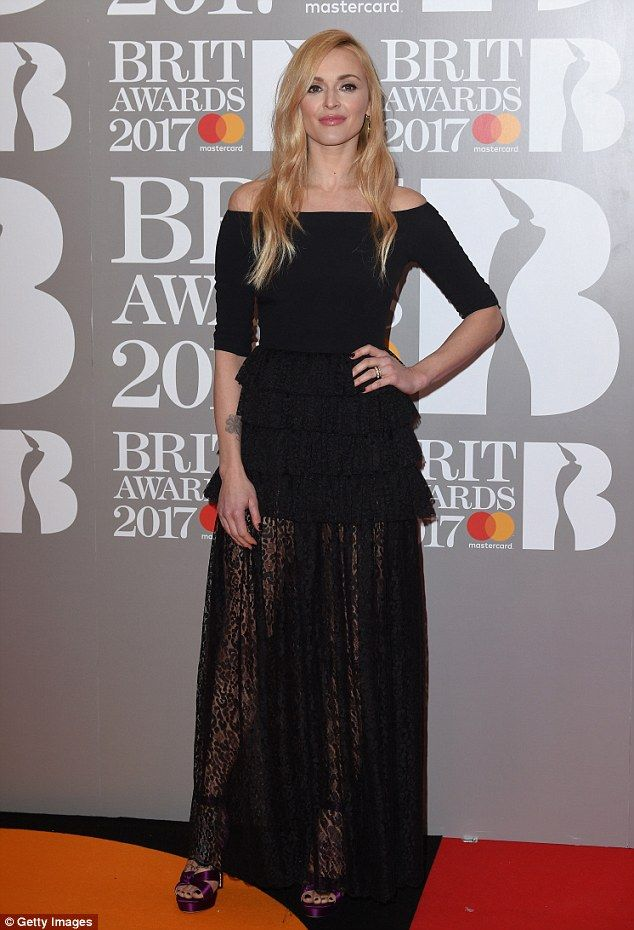 Music lover: Fearne Cotton, 35, took a break from parenting duties to enjoy a date night w...
