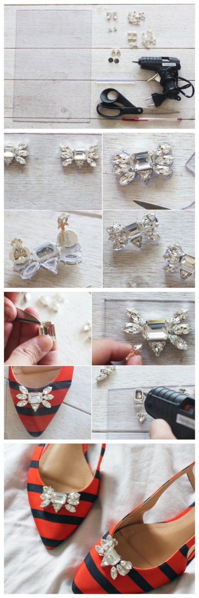 Shoe ornament clips - Diy Shoe Clip Ideas