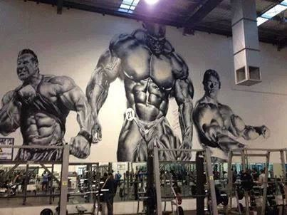 Inspirational Mural In A Gym Love It Gym Interior