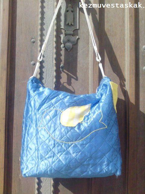 Madaras kék utazó,sport vagy iskola táska, caterinetta, meska.hu